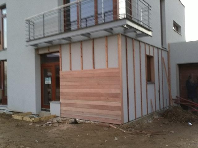 Drevena fasada postup
